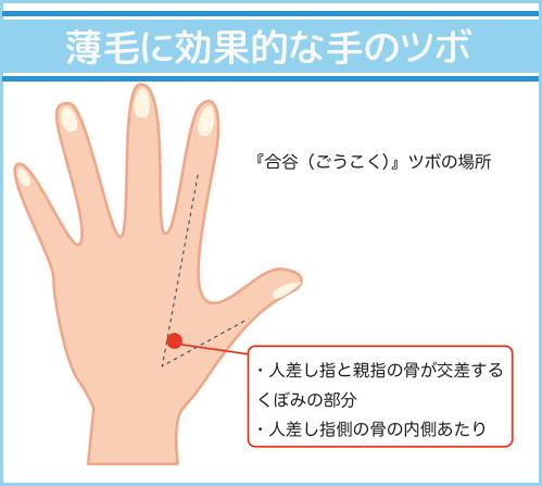 薄毛に効果的な手のツボ