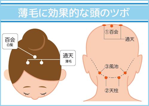 薄毛に効果的な頭のツボ